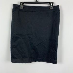 Ann Taylor LOFT Sz 10 Skirt Black Pencil Straight